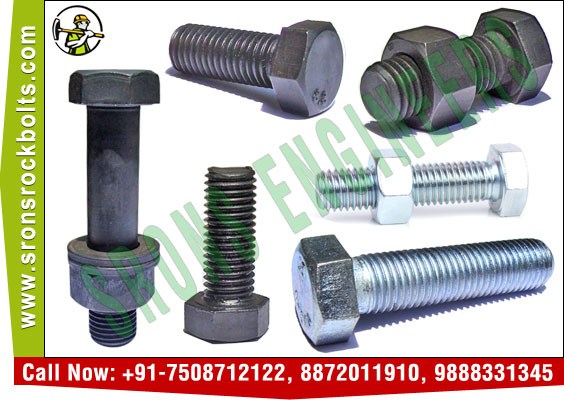 hex bolts hexagonal bolts hex head bolts manufacturers exporters in India Punjab Ludhiana