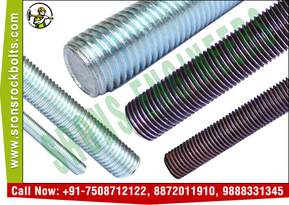 threaded rods threaded bars manufacturers exporters in India Punjab Ludhiana